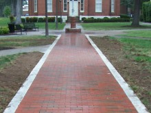 Brick pavers made by Brick Markers USA