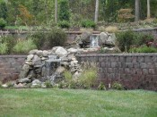 Anchor Diamond Pro retaining wall with water feature