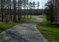 Permeable pavers used in a residential driveway