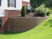Allan block retaining wall
