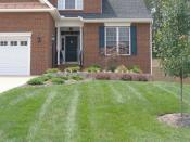 Curb appeal with retaining wall