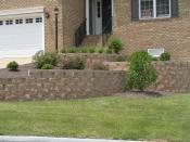 Tiered Wall with Landscaping